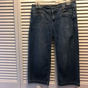 White Black House Market Capri jeans